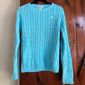 Lilly Pulitzer Blue Cable Knit Sweater